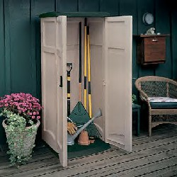 vertical storage shedgs1250 for storing a wide range of long handled tools outside 2 7 w x 2 1 d x 6h inside capacity 20 cubic feet 2 3 w - Garden Sheds 3 Feet Wide